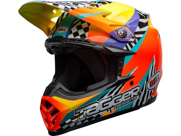 BELL Moto-9 Mips Helm Tagger Breakout Orange/Yellow
