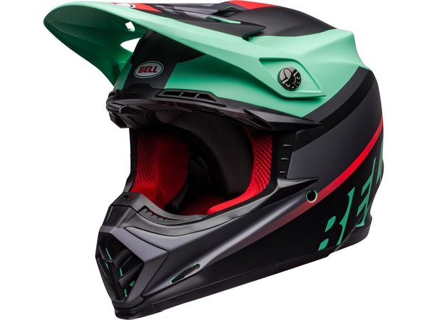 BELL Moto-9 Mips Helm Prophecy Matte Green/InfraRed /Black