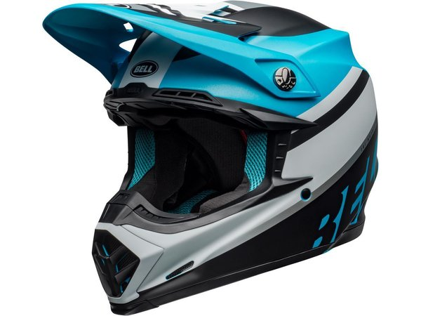 BELL Moto-9 Mips Helm Prophecy Matte White/Black/Blue